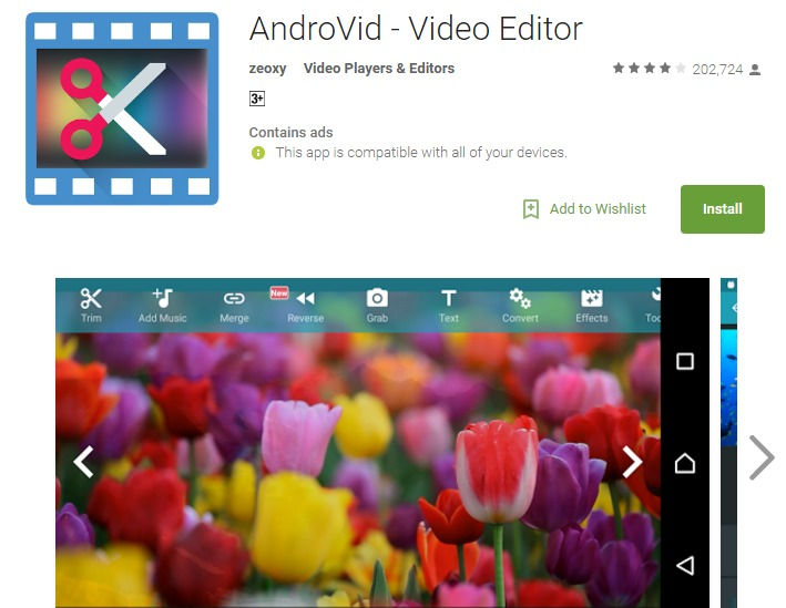 BEst android video editing app