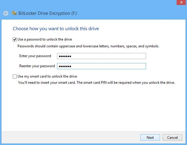 How to password protect USB Pen drive using Bit locker