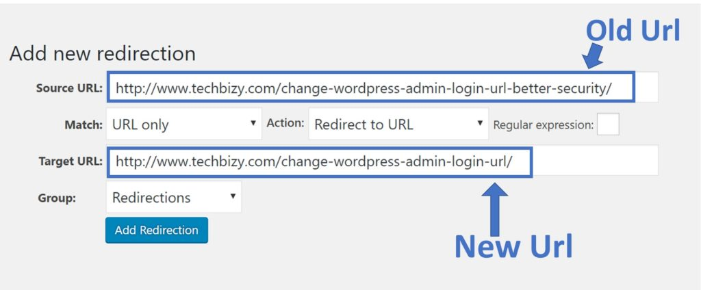 Change the url of already published post 2