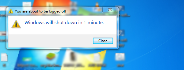 Turn off the pc automatically
