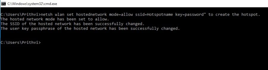 Hosted Network on windows 1