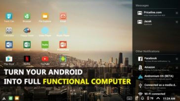 Turn your android into computer
