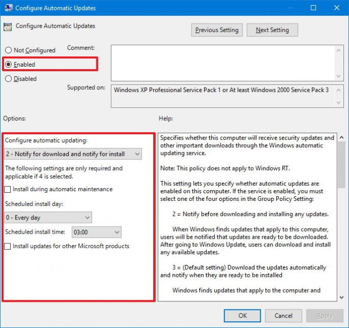 How to avoid automatic updates in window 10