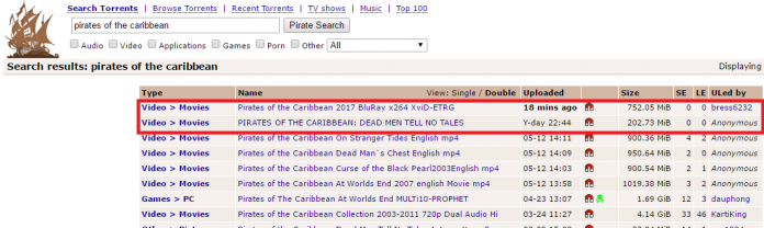 Pirates Of The Caribbean 5 Leaked On Torrent