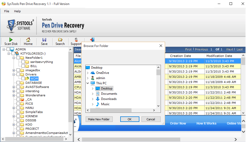 How to recover deleted data of USB