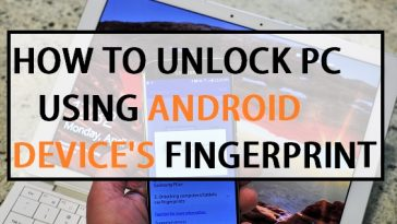 How to unlock Pc using android device's fingerprint