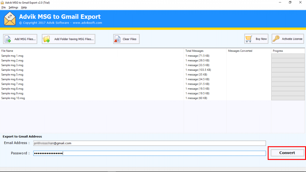 Import MSG Files to Gmail