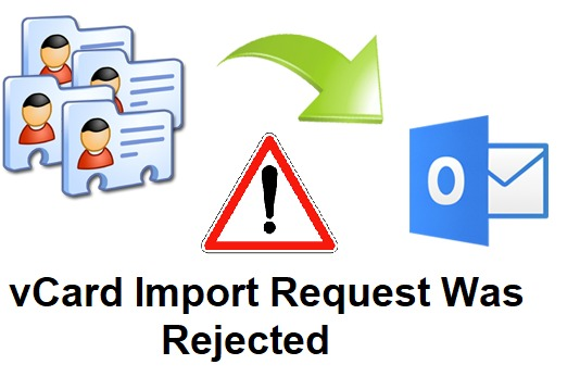 vCard Import Request Was Rejected