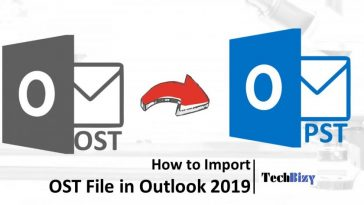 import ost file in outlook 2019