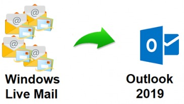 export emails from Windows Live Mail to Outlook 2019