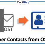 recover contacts from OST