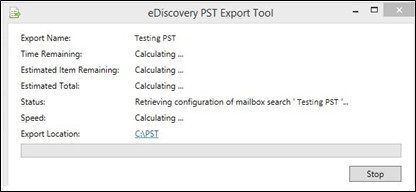 eDiscovery export tool