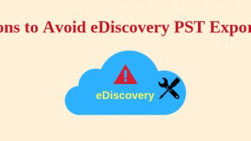 eDiscovery PST export tool
