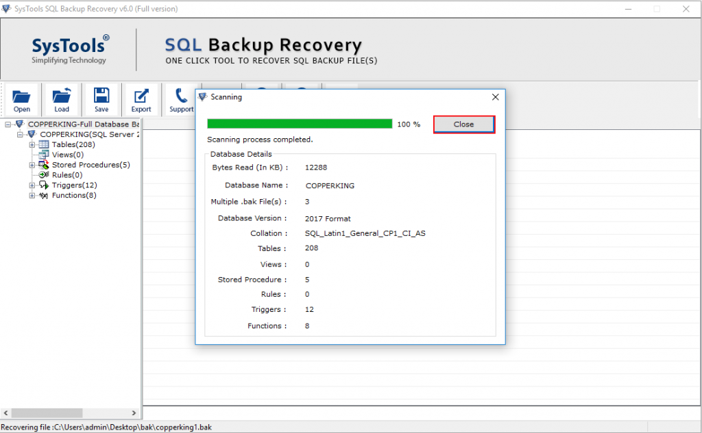 How to Recover Corrupt SQL Backup File and Import  bak File