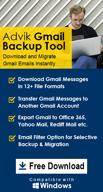 advik gmail backup tool