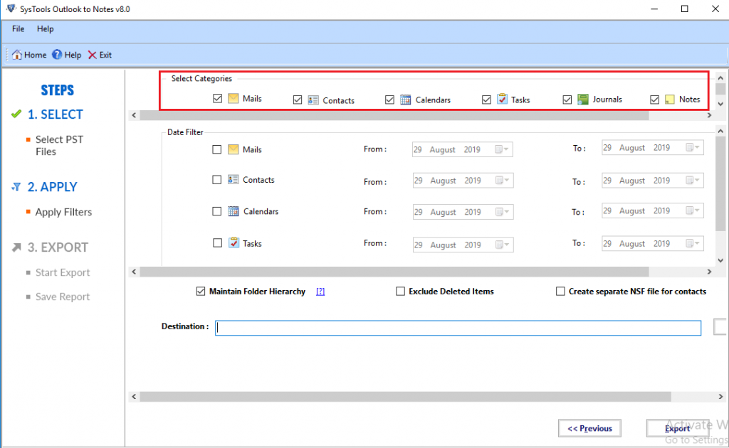 Convert PST files to NSF files for Free