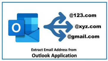 extract email addresses from outlook