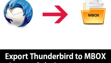 export thunderbird to mbox
