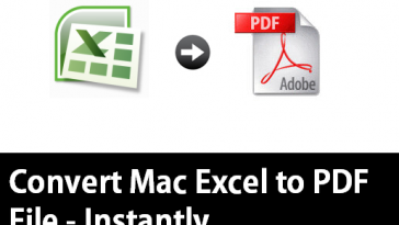 convert mac excel to pdf
